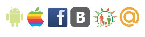 Вконтакте, Одноклассники, Мой мир, Facebook, iOS, Android