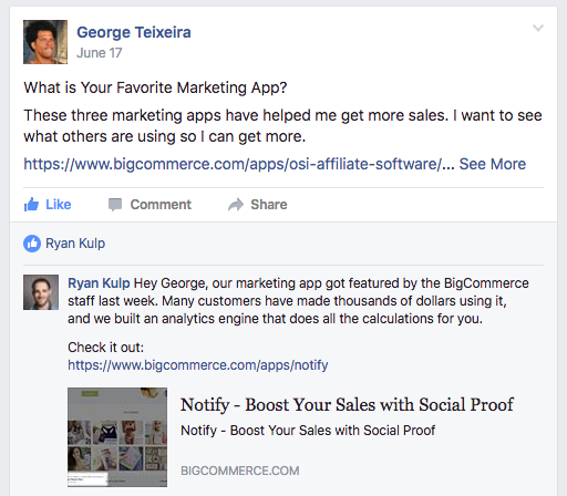 Facebook - Notify