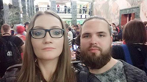 Аспирант с женой