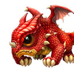 Маленький красный дракончик