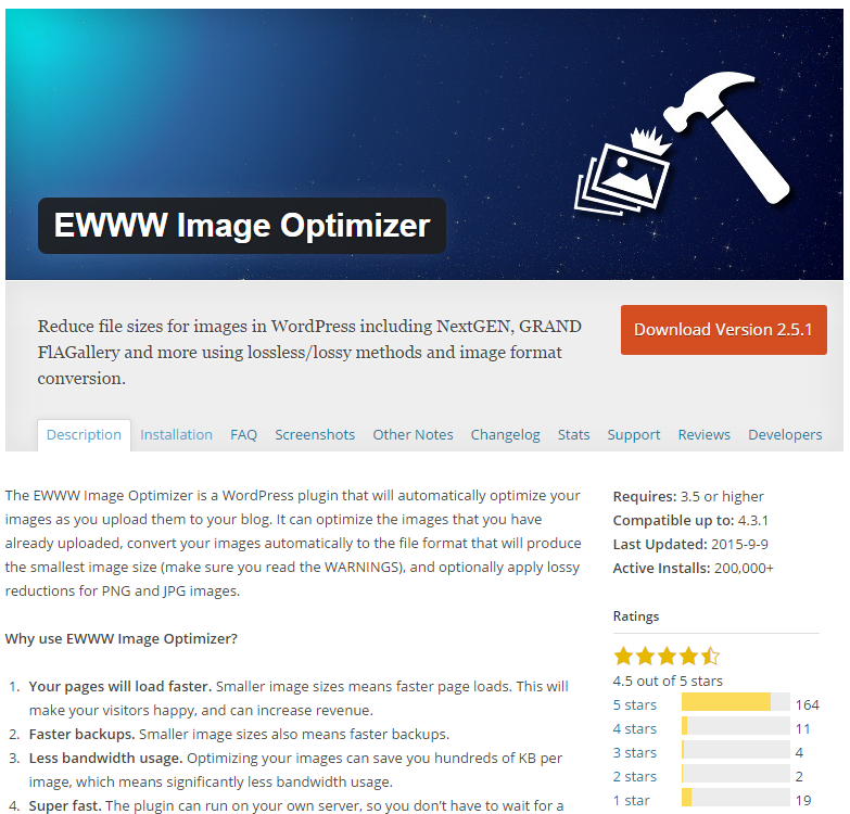 EWWW Image Optimizer – оптимизируем изображения и ускоряем WordPress