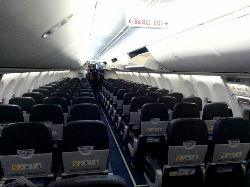 В самолёте после посадки