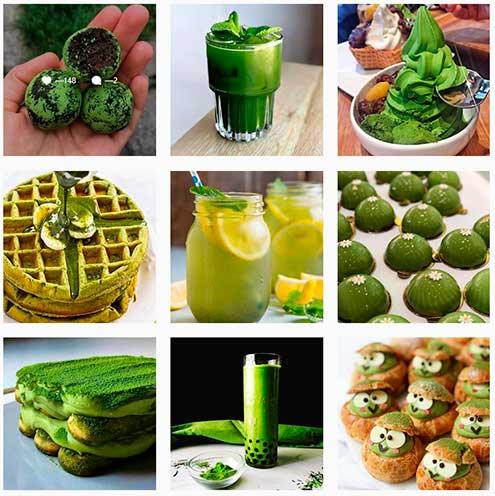 Порошковый зелёный чай