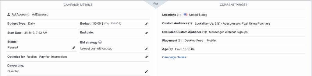 Детальная настройка рекламы в Facebook