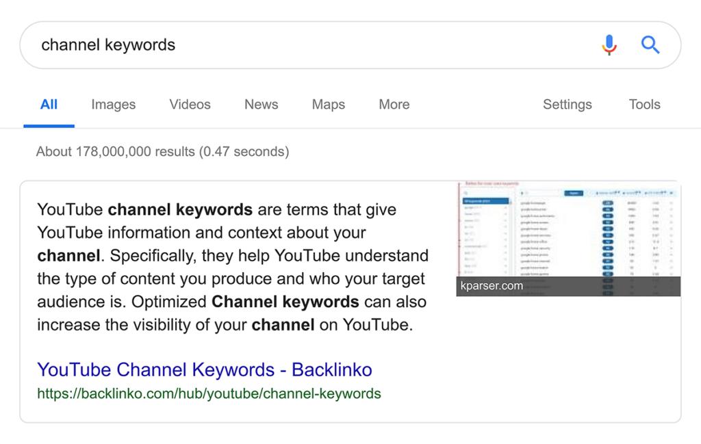 Избранный сниппет Гугл