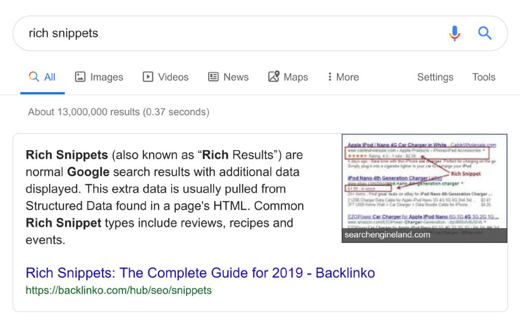 Блок ответов Гугл