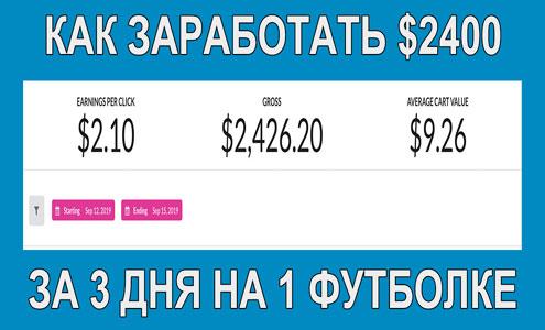 Как Керри Эгелер заработал 2426 долларов за 72 часа на 1 футболке