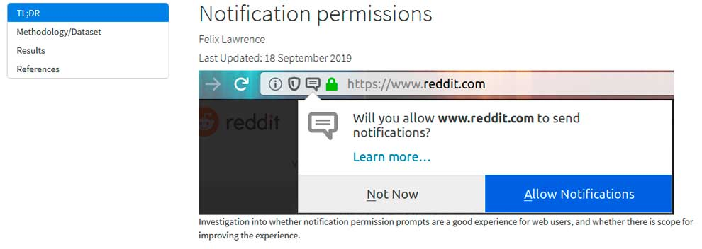 Пуш-уведомления в Mozilla Firefox
