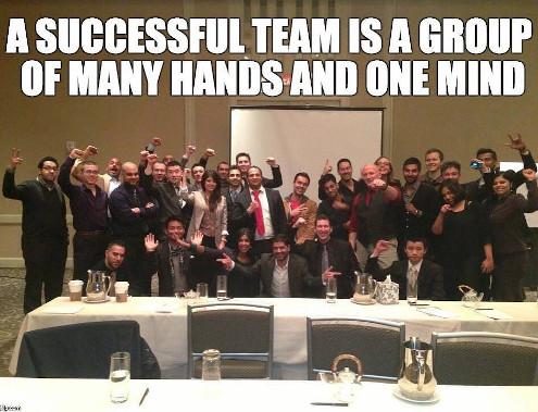 Международная команда успешных людей