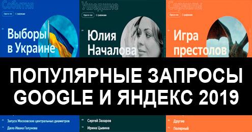 Самые популярные поисковые запросы Google и Яндекс в 2019 году