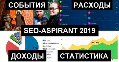 Итоги 2019 года от SEO-аспиранта: события, финстрип, статистика блога