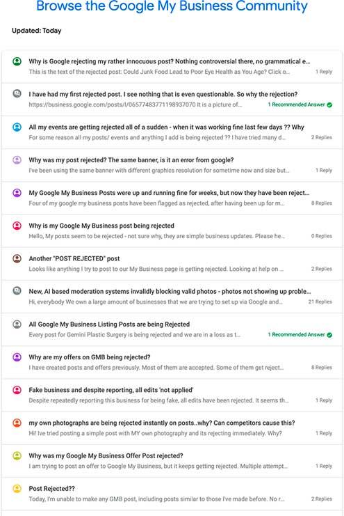 Форум сообщества Гугл Мой Бизнес