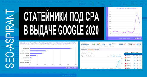 Аффилиатные сайты в поисковой выдаче Google 2020 [исследование Detailed]