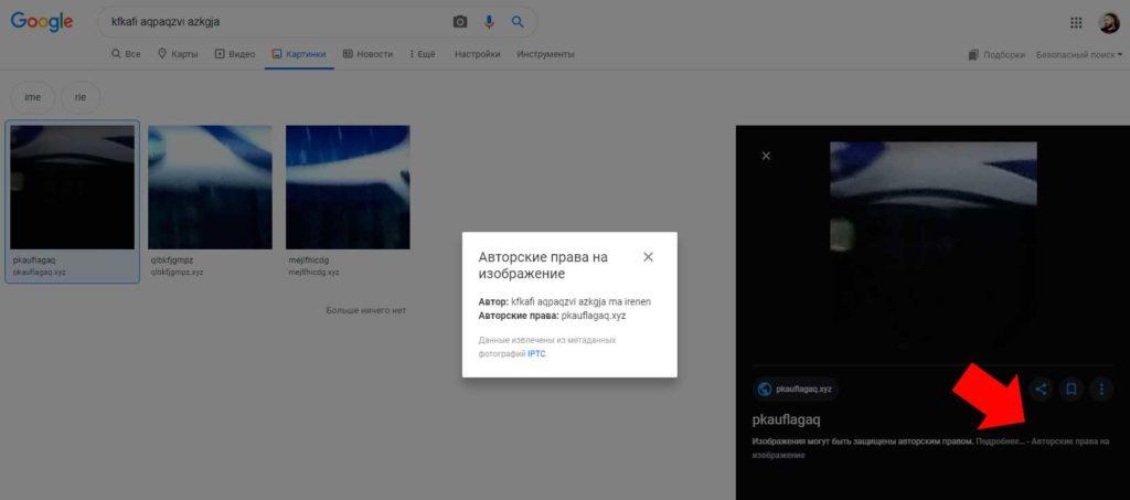 Авторские права на изображение в Гугл картинках