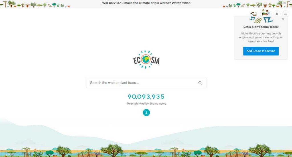 Ecosia поисковик