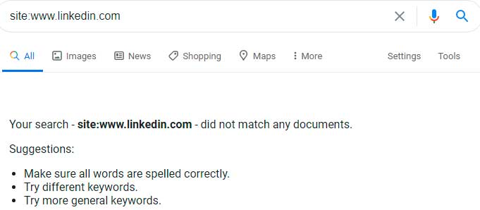Линкедин вылетел из Гугла