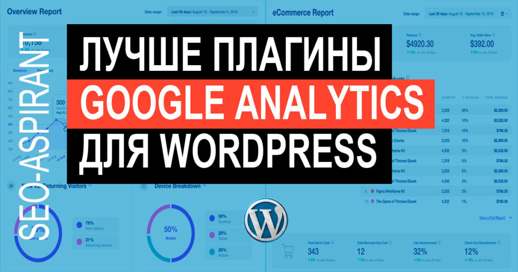 3 лучших WordPress плагина для Google Analytics