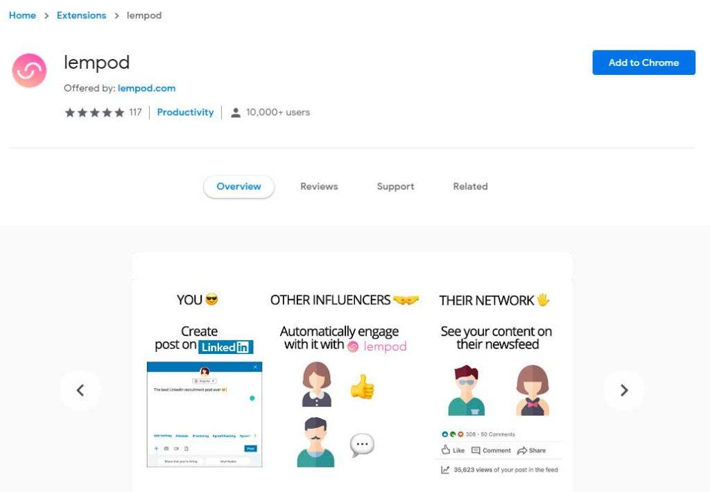 lempod.com - накрутка LinkedIn