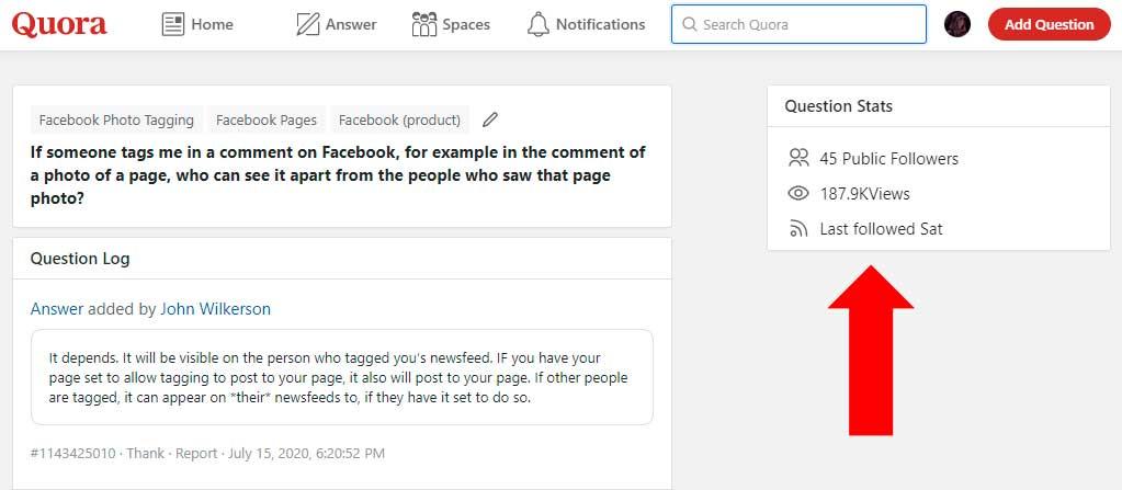 Статистика вопроса на Quora