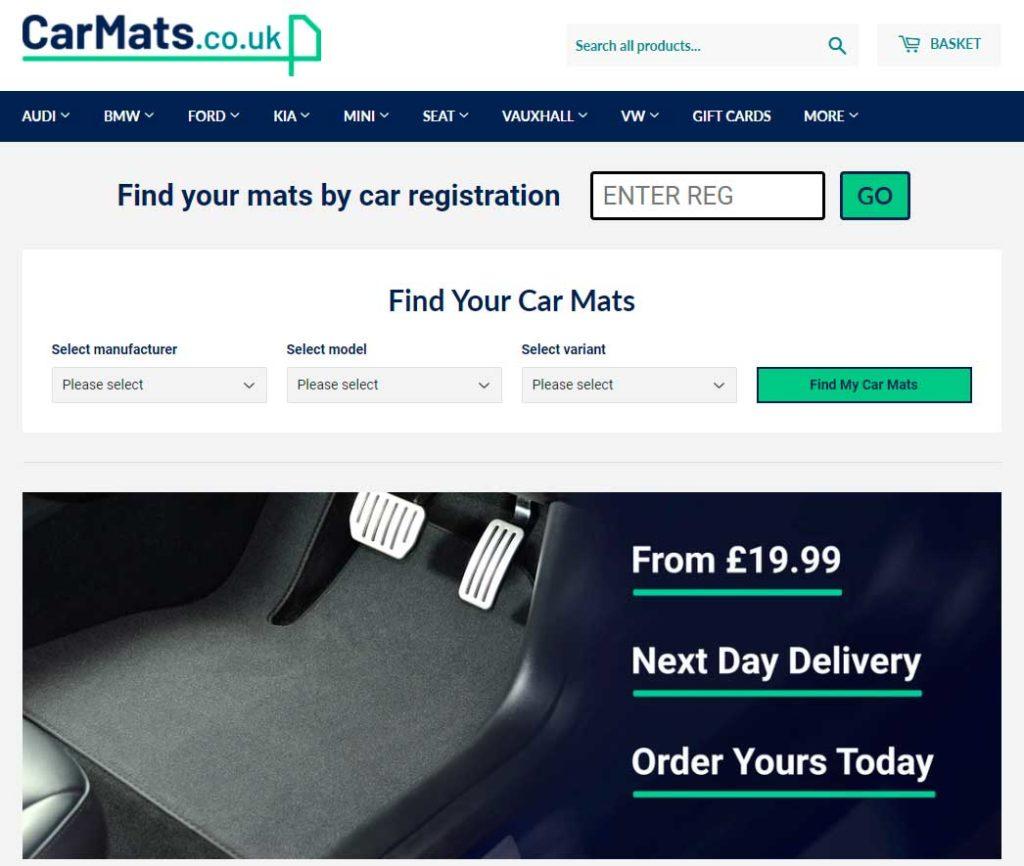 Интернет-магазин Carmats.co.uk
