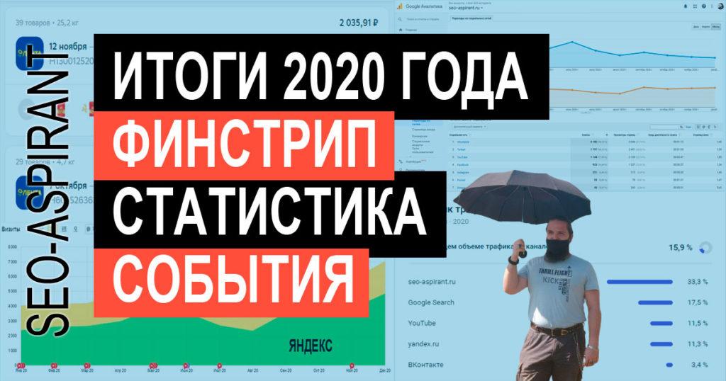 Итоги 2020 года от SEO-аспиранта: события, финстрип, статистика блога