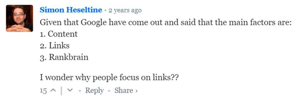 Почему вебмастеры фокусируются на ссылках