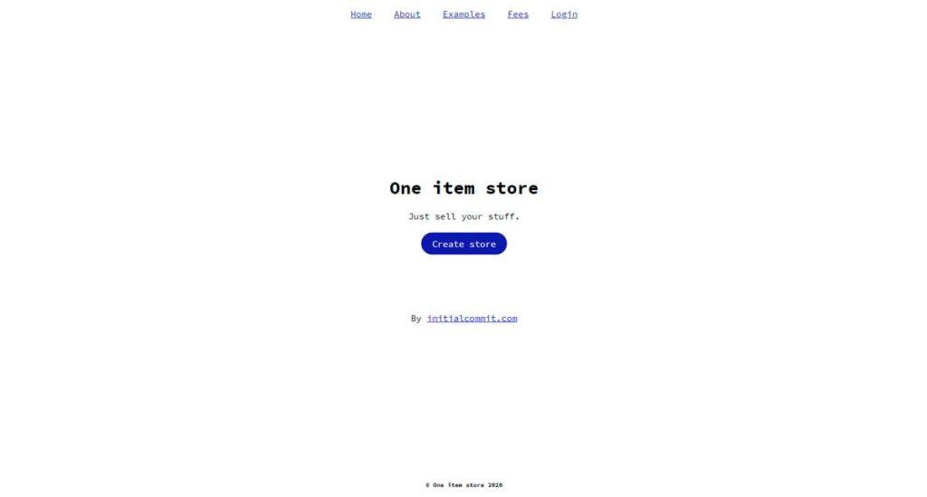 One Item Store: небольшой конструктор интернет-магазинов