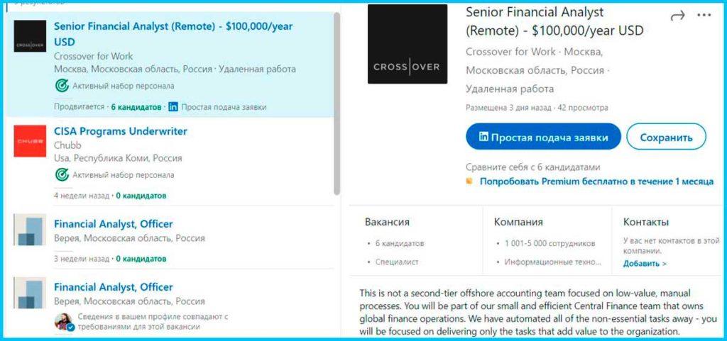 Вакансии для специалистов по кредитам