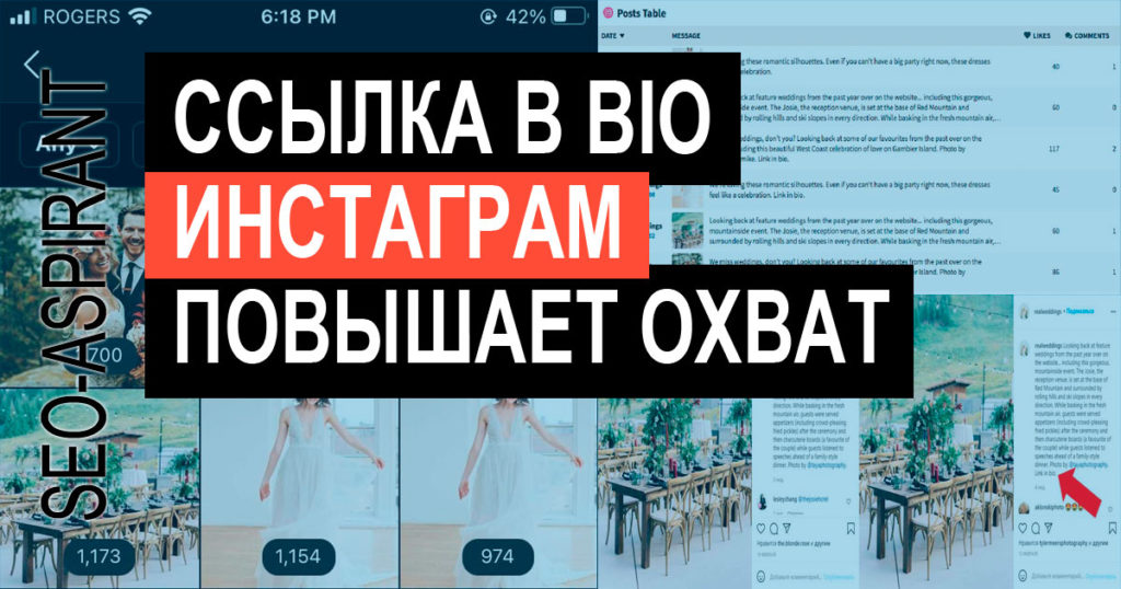 Влияет ли активная ссылка в профиле Инстаграм на охваты [эксперимент]