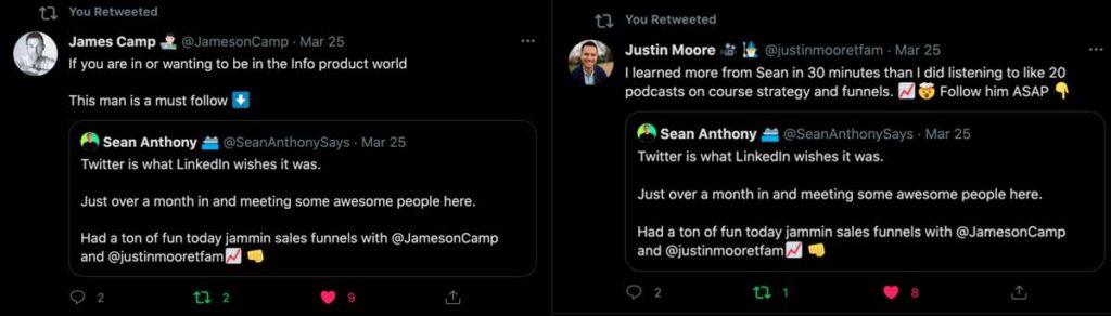 Раскрутка Твиттер аккаунта через общение (пример)