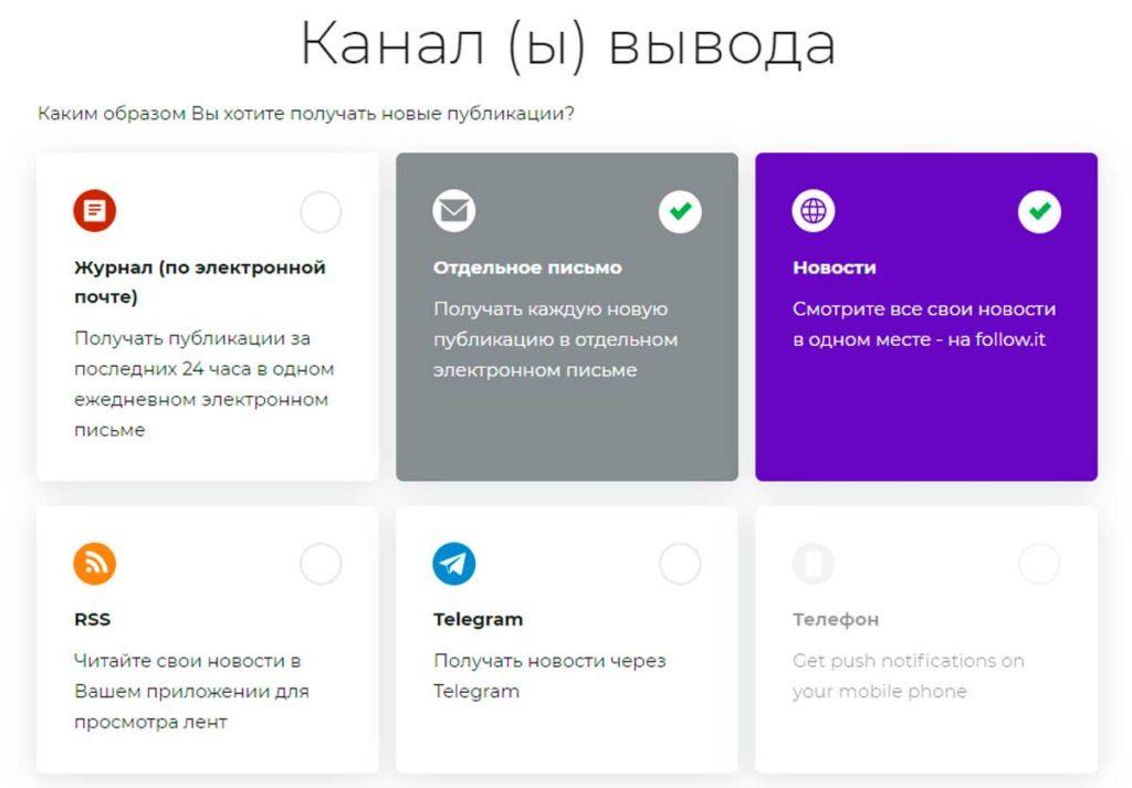 Дополнительные каналы доставки новых статей блога