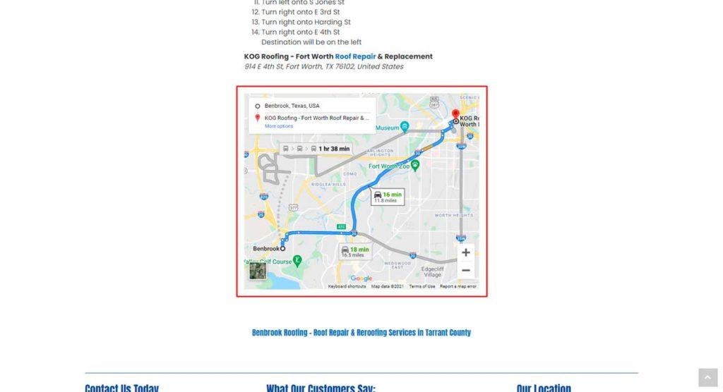 Пример встраивания Google карт в сайт