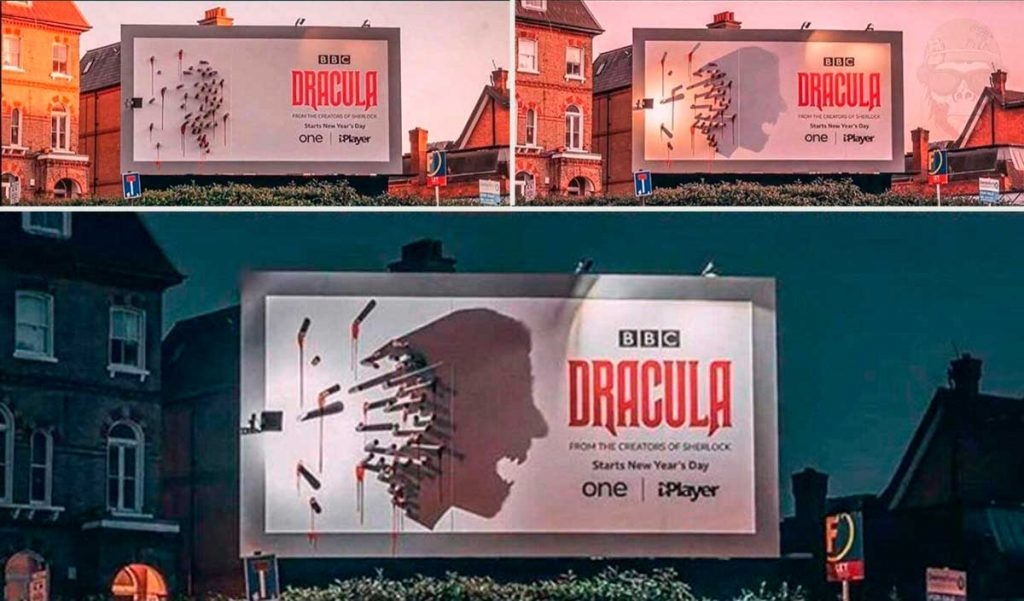 Рекламный щит Дракулы